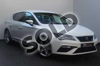 SEAT Leon 1.4 TSI 125 FR Technology 5dr in White at Listers SEAT Worcester