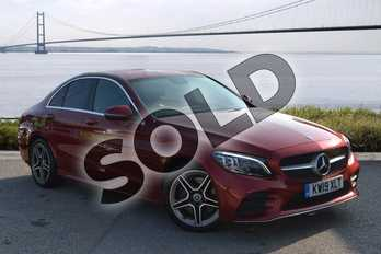 Mercedes-Benz C Class C300d AMG Line Premium 4dr 9G-Tronic in designo hyacinth red metallic at Mercedes-Benz of Hull