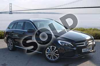 Mercedes-Benz C Class C350e Sport 5dr Auto in Obsidian Black Metallic at Mercedes-Benz of Hull
