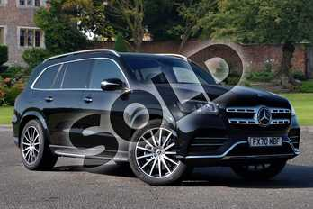 Mercedes-Benz GLS GLS 400d 4Matic AMG Line Premium + 5dr 9G-Tronic in obsidian black metallic at Mercedes-Benz of Lincoln