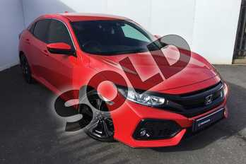 Honda Civic 1.0 VTEC Turbo SR 5dr in Red at Listers Honda Solihull