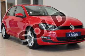 Volkswagen Golf 1.4 TSI Match 5dr in Solid - Tornado red at Listers U Northampton