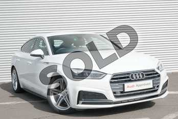 Audi A5 2.0 TFSI S Line 5dr S Tronic in Ibis White at Coventry Audi