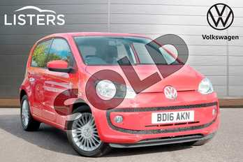 Volkswagen Up 1.0 High Up 5dr in Tornado Red at Listers Volkswagen Leamington Spa