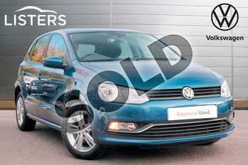 Volkswagen Polo 1.0 75 Match Edition 5dr in Blue Silk at Listers Volkswagen Leamington Spa