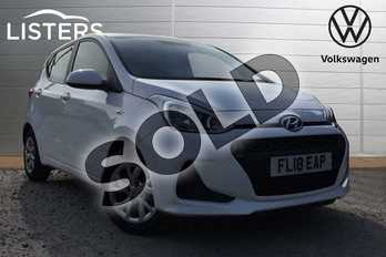 Hyundai i10 1.0 SE 5dr in White at Listers Volkswagen Loughborough