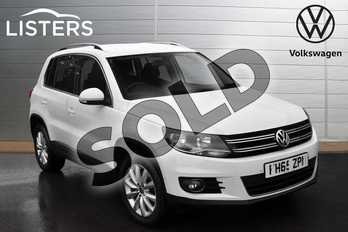 Volkswagen Tiguan 2.0 TDI BlueMotion Tech Match 4MOTION 5dr 150 DSG in Pure white at Listers Volkswagen Evesham