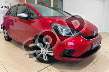 Honda Jazz 1.5 i-MMD Hybrid EX 5dr eCVT in Crystal Red at Listers Honda Northampton
