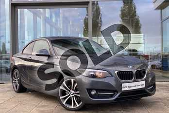 BMW 2 Series 218d Sport Coupe in Mineral Grey at Listers King's Lynn (BMW)