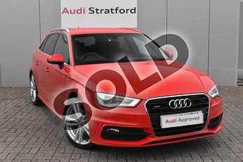 Audi A3 2.0 TDI Quattro S Line 5dr S Tronic in Misano Red, pearl effect at Stratford Audi