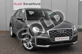 Audi Q2 1.6 TDI S Line 5dr in Daytona Grey Pearlescent at Stratford Audi