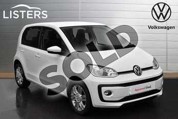 Volkswagen Up 1.0 BlueMotion Tech High Up 5dr in Pure white at Listers Volkswagen Evesham
