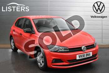 Volkswagen Polo 1.0 S 5dr in Flash Red at Listers Volkswagen Evesham
