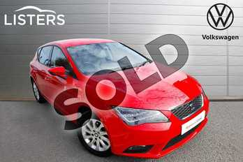 SEAT Leon 1.2 TSI 110 SE 5dr (Technology Pack) in Emocion red at Listers Volkswagen Worcester