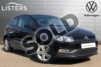 Volkswagen Polo 1.2 TSI Match 3dr DSG in Deep black at Listers Volkswagen Coventry
