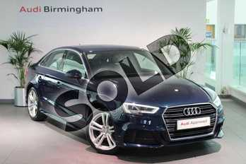 Audi A3 1.5 TFSI S Line 4dr in Cosmos Blue, metallic at Birmingham Audi