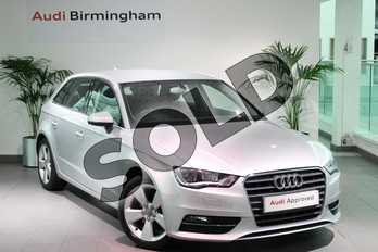Audi A3 1.2 TFSI Sport 5dr in Ice Silver, metallic at Birmingham Audi
