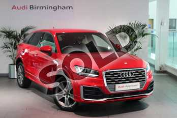 Audi Q2 1.4 TFSI S Line 5dr in Tango Red Metallic at Birmingham Audi