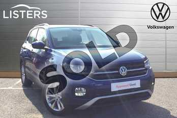 Volkswagen T-Cross 1.0 TSI 110 SE 5dr DSG in Reef blue at Listers Volkswagen Loughborough