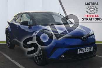 Toyota C-HR 1.8 Hybrid Dynamic 5dr CVT in Blue at Listers Toyota Stratford-upon-Avon