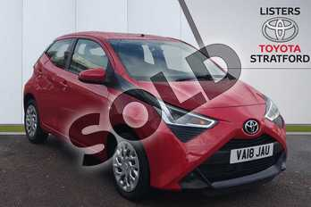 Toyota AYGO 1.0 VVT-i X-Play 5dr in Red at Listers Toyota Stratford-upon-Avon