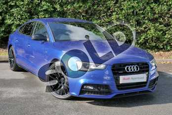 Audi A5 2.0 TDI 190 Quattro Black Ed Plus 5dr S Tronic 5st in Sepang Blue Pearlescent at Worcester Audi