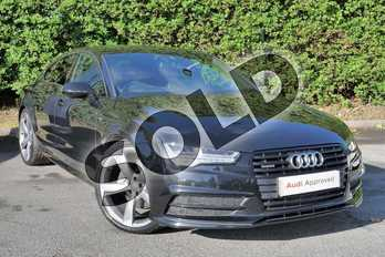 Audi A7 3.0 TDI Quattro 272 Black Edition 5dr S Tronic in Myth Black Metallic at Worcester Audi