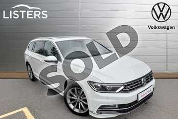 Volkswagen Passat 2.0 TDI R Line 5dr in Pure White at Listers Volkswagen Worcester