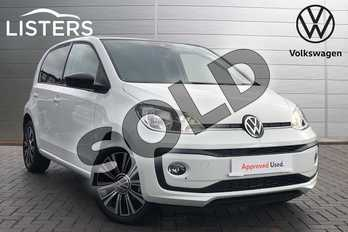 Volkswagen Up 1.0 Black Edition 5dr in Pure White at Listers Volkswagen Coventry