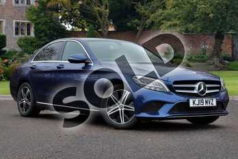 Mercedes-Benz C Class C220d Sport 4dr 9G-Tronic in brilliant blue metallic at Mercedes-Benz of Lincoln