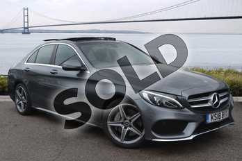 Mercedes-Benz C Class C250d AMG Line Premium Plus 4dr 9G-Tronic in selenite grey metallic at Mercedes-Benz of Hull