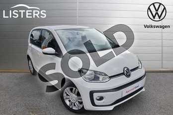 Volkswagen Up 1.0 High Up 5dr in Pure White at Listers Volkswagen Worcester