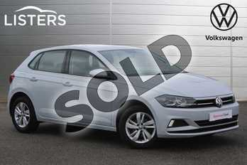Volkswagen Polo 1.0 TSI 95 SE 5dr in White Silver at Listers Volkswagen Nuneaton