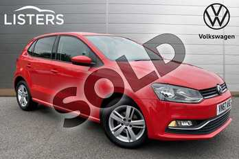 Volkswagen Polo 1.2 TSI Match Edition 5dr in Flash Red at Listers Volkswagen Stratford-upon-Avon