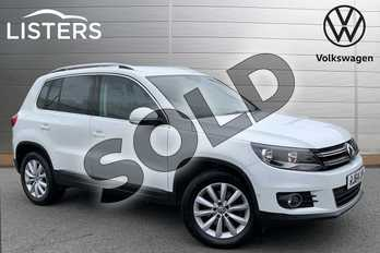 Volkswagen Tiguan 2.0 TDI BlueMotion Tech Match 177 5dr DSG in Pure White at Listers Volkswagen Stratford-upon-Avon