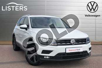 Volkswagen Tiguan 1.4 TSI 150 SE Nav 5dr in Pure white at Listers Volkswagen Loughborough