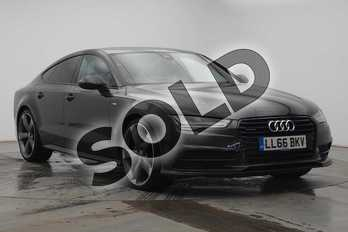 Audi A7 3.0 TDI Quattro Black Edition 5dr S Tronic in Oolong Grey Metallic at Coventry Audi