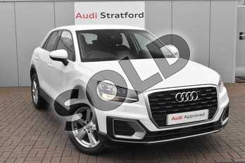 Audi Q2 1.4 TFSI Sport 5dr in Glacier White Metallic at Stratford Audi