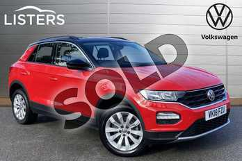 Volkswagen T-Roc 1.0 TSI SE 5dr in Flash Red at Listers Volkswagen Stratford-upon-Avon