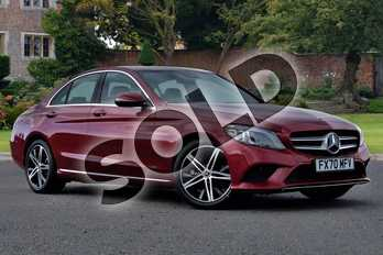 Mercedes-Benz C Class C220d Sport Edition Premium 4dr 9G-Tronic in designo hyacinth red metallic at Mercedes-Benz of Lincoln