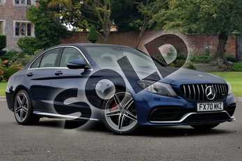 Mercedes-Benz C Class Mercedes-AMG C 63 S Saloon in brilliant blue metallic at Mercedes-Benz of Lincoln