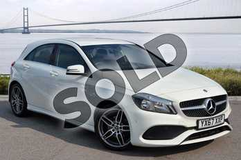 Mercedes-Benz A Class A160 AMG Line Executive 5dr in Cirrus White at Mercedes-Benz of Hull