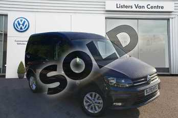 Volkswagen Caddy 2.0 TDI BlueMotion Tech 102PS Highline Nav Van in Blue at Listers Volkswagen Van Centre Coventry