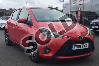 Toyota Yaris 1.5 VVT-i Icon Tech 5dr in Chilli Red at Listers Toyota Lincoln
