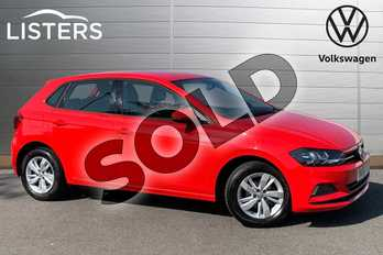 Volkswagen Polo 1.0 TSI 95 SE 5dr in Flash Red at Listers Volkswagen Stratford-upon-Avon