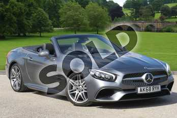 Mercedes-Benz SL Class SL 500 AMG Line Premium 2dr 9G-Tronic in selenite grey metallic at Mercedes-Benz of Boston