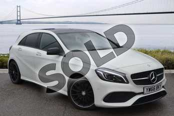 Mercedes-Benz A Class A220d AMG Line Premium Plus 5dr Auto in Cirrus White at Mercedes-Benz of Hull