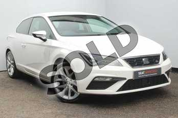 SEAT Leon 1.4 TSI 125 FR Technology 3dr in White at Listers SEAT Worcester