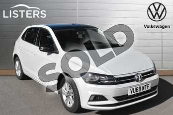 Volkswagen Polo 1.0 TSI 95 SE 5dr in White Silver at Listers Volkswagen Evesham