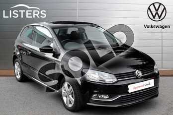 Volkswagen Polo 1.2 TSI Match Edition 3dr in Black at Listers Volkswagen Evesham